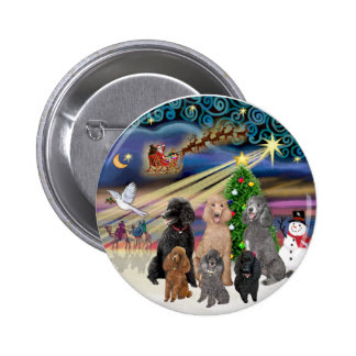 Magia de Navidad (r) - 6 caniches estándar Pins