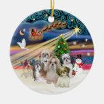 Magia de Navidad - Shih Tzus (CINCO) Ornamentos Para Reyes Magos