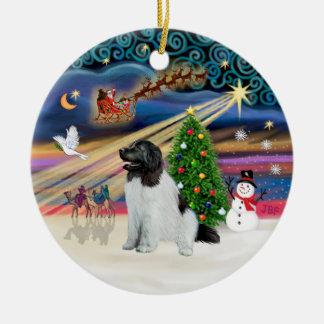 Magia de Navidad - Terranova (Landseer #1) Adorno Redondo De Cerámica