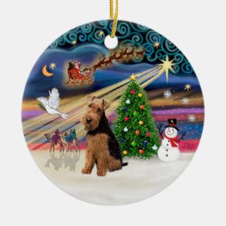 Magia de Navidad - Terrier galés Ornato