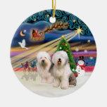 Magia de Navidad - viejo inglés (dos) Ornamentos De Navidad