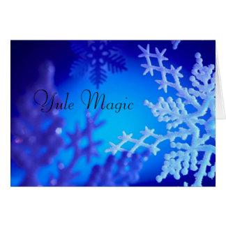 Magia de Yule Tarjeta De Felicitación