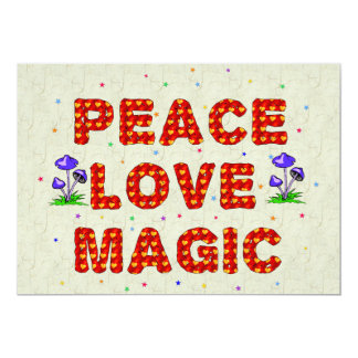 """Magia del amor de la paz invitación 5"""" x 7"""""""