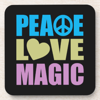 Magia del amor de la paz posavaso