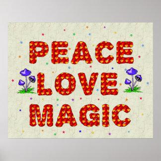 Magia del amor de la paz póster