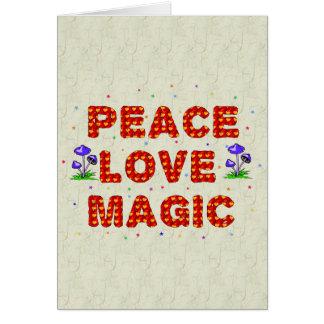 Magia del amor de la paz tarjeta de felicitación