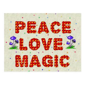 Magia del amor de la paz tarjetas postales