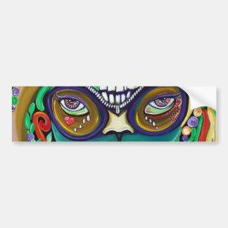 Magia del carnaval etiqueta de parachoque