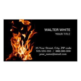 Magia del fuego tarjeta de visita