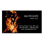 Magia del fuego tarjetas de visita