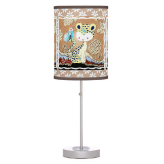 Magia del guepardo de la selva lámpara de mesa