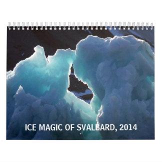 Magia del hielo de Svalbard, 2014 Calendario