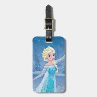 Magia del invierno de Elsa el   Etiquetas Para Maletas