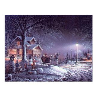 Magia del invierno del navidad tarjetas postales