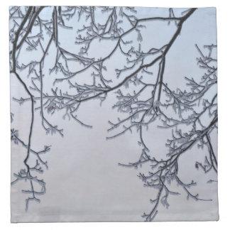 Magia del invierno servilletas imprimidas