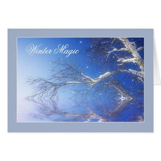 Magia del invierno tarjeta