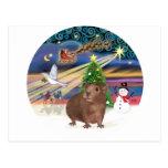 Magia del navidad - conejillo de Indias #3 Postal