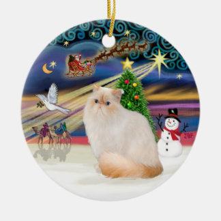 Magia del navidad - gato Himalayan (punto de la Ornamentos De Navidad