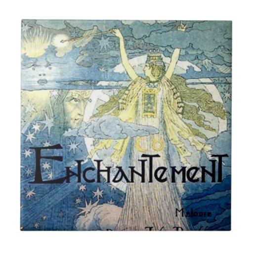 Magia del nouveau del arte del encantamiento azulejo