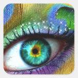 Magia del ojo pegatinas cuadradases