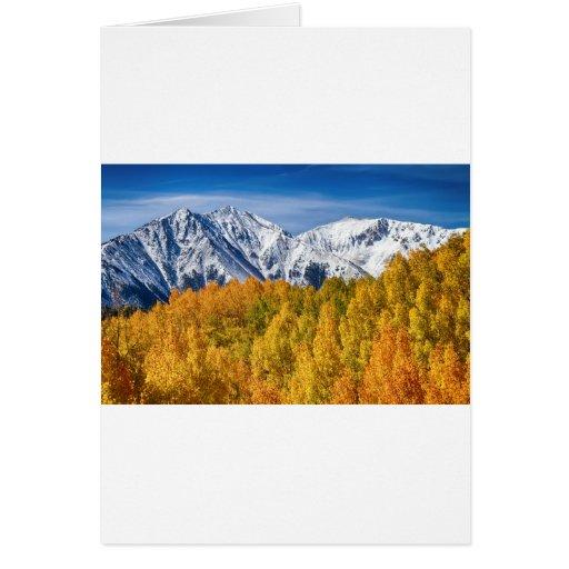 Magia del otoño de la montaña rocosa de Colorado Felicitaciones