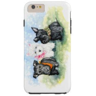 Magia del perrito del escocés y de Westie Funda De iPhone 6 Plus Tough