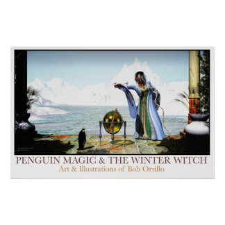 Magia del pingüino y la bruja del invierno poster