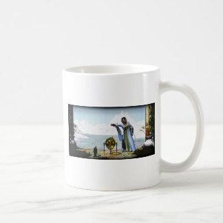 Magia del pingüino y la bruja del invierno taza