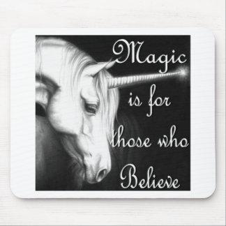 Magia del unicornio alfombrillas de raton