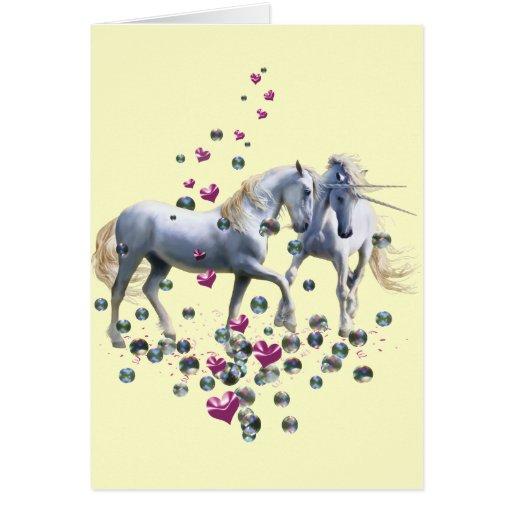 Magia del unicornio tarjeta de felicitación
