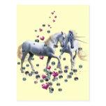 Magia del unicornio tarjetas postales