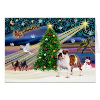 Magia-EBD Brown-Whitstand de Navidad Felicitacion