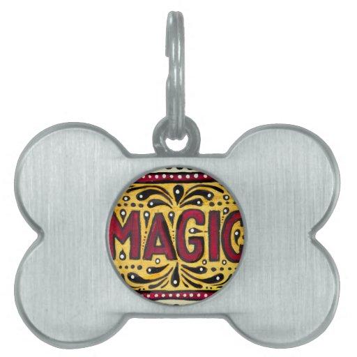 Magia gitana placa mascota