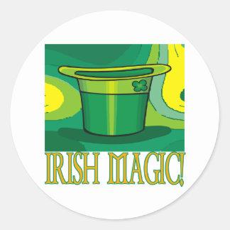 Magia irlandesa pegatina redonda