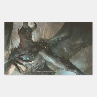 Magia: La reunión - demonio Runa-Marcado con una Rectangular Pegatinas