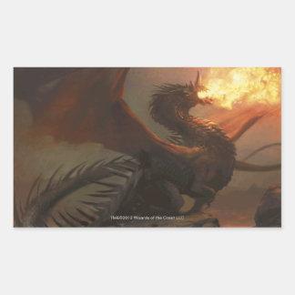 Magia: La reunión - dragón de Flameblast Rectangular Pegatinas