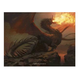 Magia: La reunión - dragón de Flameblast Tarjeta Postal
