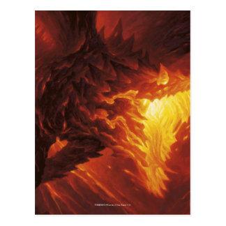 Magia: La reunión - dragón volcánico Tarjetas Postales