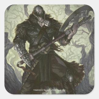 Magia: La reunión - Garruk implacable Pegatina Cuadrada