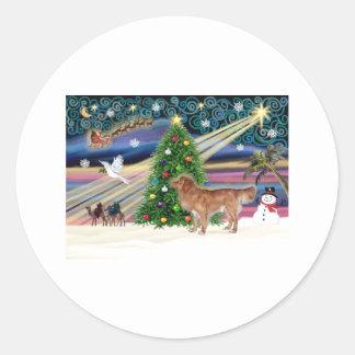 Magia-Nueva escocia-soporte de Navidad Pegatina Redonda