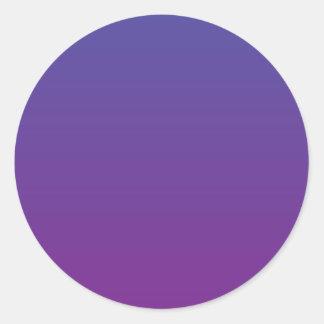 Magia púrpura pegatina redonda