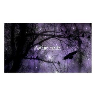 Magia púrpura tarjetas de visita