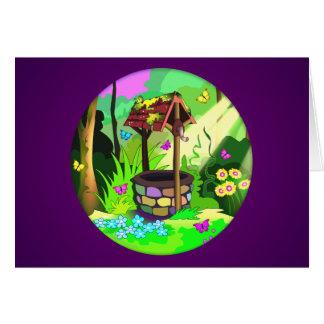 Magia que desea a mariposas bien del bosque la sol tarjeta de felicitación