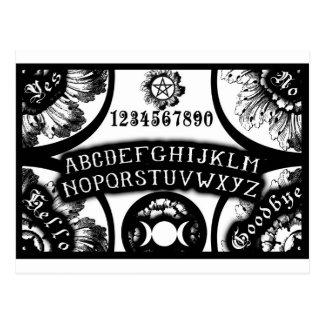 Magia que habla diseño oculto del tablero postal