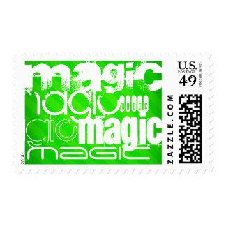 Magia; Rayas verdes de neón Franqueo