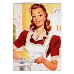 Magia retra de la cocina del kitsch 50s de las muj felicitación
