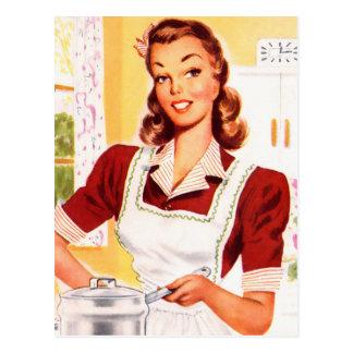 Magia retra de la cocina del kitsch 50s de las muj tarjetas postales