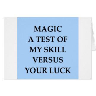 magia tarjeta