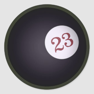 Magic 23 Ball of Chaos In The Universe Round Stickers