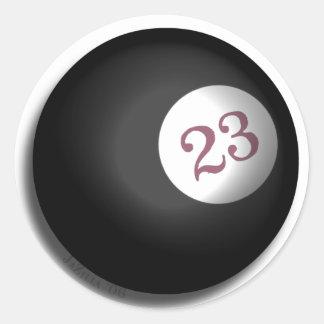 Magic 23 Ball of Chaos Theory Round Sticker